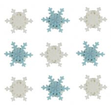 Mini Snowflakes Sugar Decorations